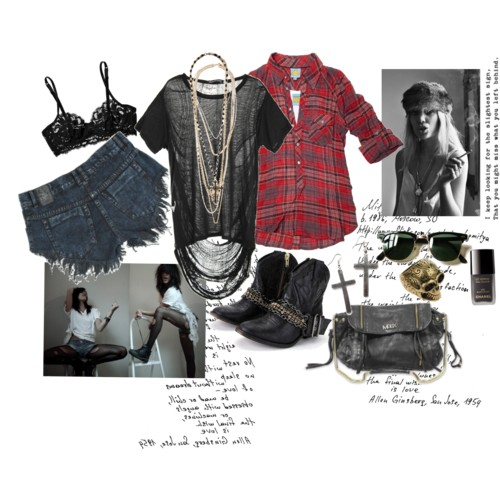 90's grunge collage including jewels