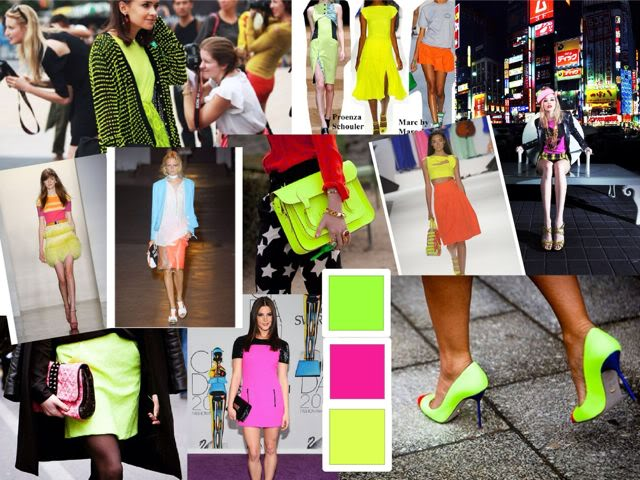 neon collage
