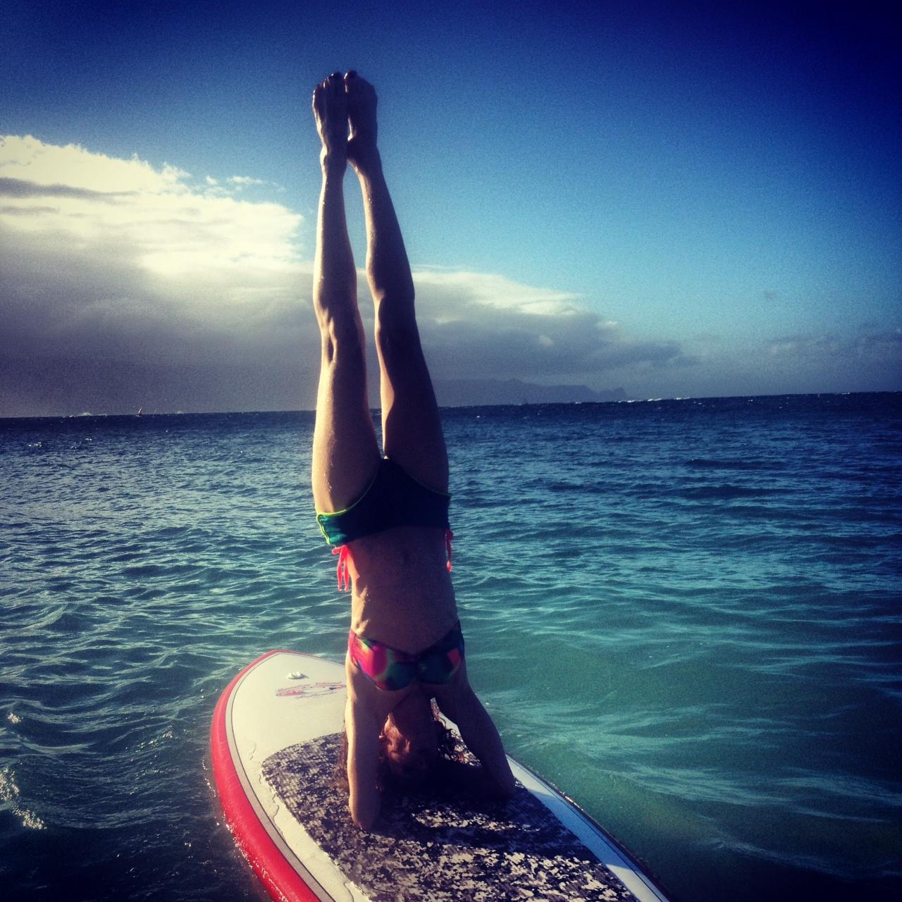 Yoga on a paddle board-1